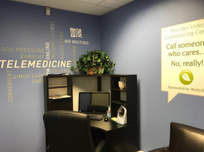 Telemedicine room designated for mcgohan brabender employees