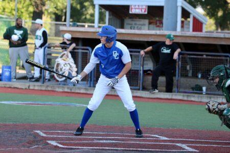 Hunter playing baseball